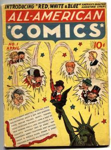 ALL-AMERICAN COMICS #1-1939-HOP HARRIGAN-MUTT N JEFF-SCRIBBLY-RARE