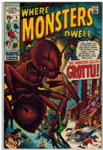 WHERE MONSTERS DWELL 3 VG-F May 1970