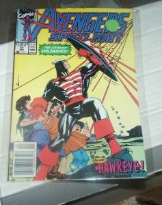 avengers spotlight # 31 april  1990 marvel hawkeye and  U S AGENT