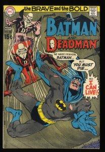 Brave And The Bold #86 VF 8.0 Batman Deadman Neal Adams!
