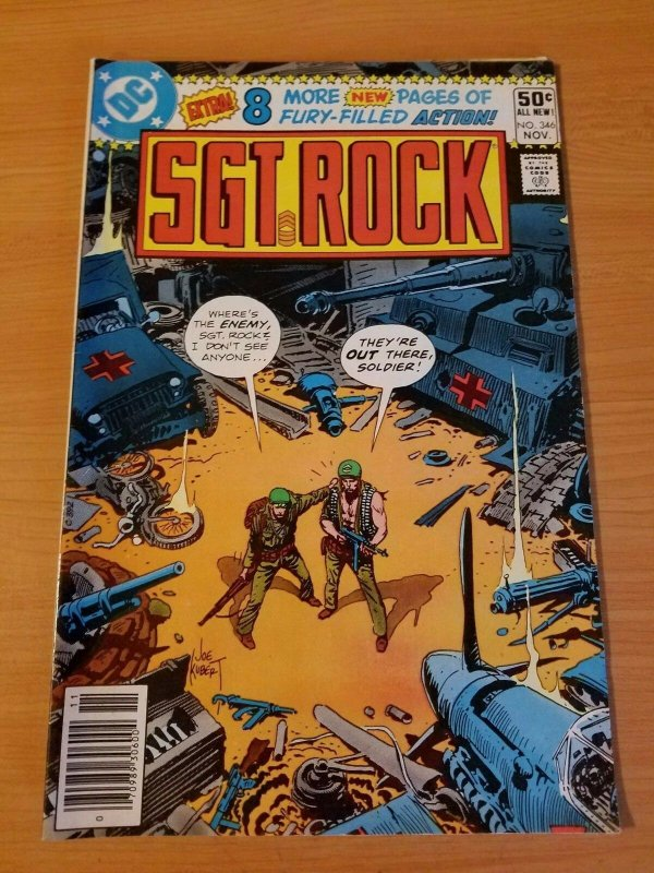 Sgt. Rock #346 ~ VERY FINE - NEAR MINT NM ~ (1980, DC Comics)