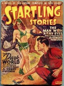 Startling Stories Pulp Summer 1946- Bergey cover- Edmond Hamilton VG
