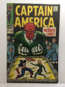 Captain America 103 Fn/Vf Fine/Very Fine 7.0 Marvel Comics