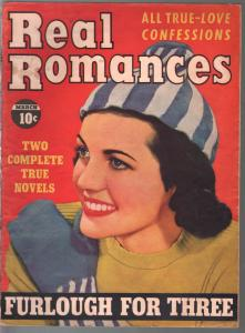 Real Romance #2 3/1943-Good Girl Art cover-lurid-spicy-pulp stories-VG