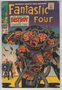 Fantastic Four #68 (Nov-67) VF+ High-Grade Fantastic Four, Mr. Fantastic (Ree...