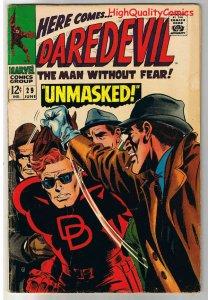 DAREDEVIL #29, VG, Gene Colan, UnMasked, Stan Lee, 1964, more in store