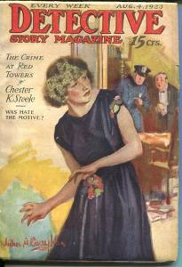 DETECTIVE STORY MAGAZINE-AUG 4 1923-COUGHLIN-FLETCHER-STEELE-KIDWELL-fine FN