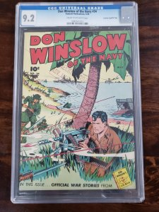 Don Winslow of the Navy 34 CGC 9.2 Crowley Pedigree/File copy Old Pedigree label