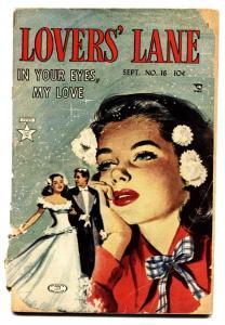 Lovers' Lane #16 1951- Golden Age Romance- wedding cover