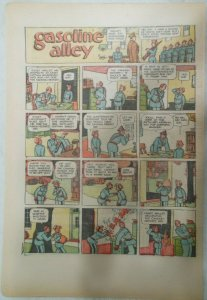 (15) Gasoline Alley Sunday Pages by Frank King from 1935 Size: 11 x 15 inches