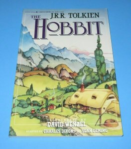 The Hobbit 1990 Softcover Book FN/VF J.R.R. Tolkien Movie TV Pop Culture Wenzel