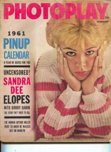Photoplay-Sandra Dee-Marilyn Monroe-Jean Harlow-Peter Lawford-Feb-1961