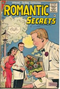 Romantic Secrets #8 1956-Charlton-Dick Giordano love triangle cover-VG