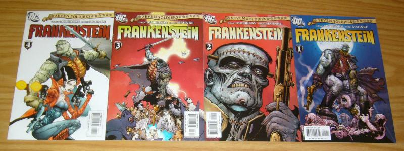 Seven Soldiers: Frankenstein #1-4 VF/NM complete series - grant morrison 2 3 set