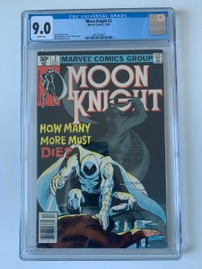 MOON KNIGHT #2 (1980 Series 1st Moon Knight Solo Series)  - CGC 9.0
