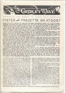 Gridley Wave #23 1967-Burroughs Bulletin-ERB & Tarzan fanzine-FN