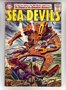 Sea Devils #12 (Aug-63) VG Affordable-Grade Sea Devils (Dane Dorrence, Biff B...