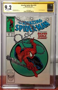 Amazing Spider-Man #301 CGC 9.2, Signed by T. McFarlane