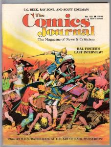 Comics Journal #102-9/1985-Prince Valiant-Basil Wolverton-CC Beck-VF