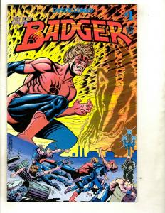 11 Comics Badger # 1 2 3 4 5 6 7 8 9 Haunted Library # 64 Black Hole # 3  EK4