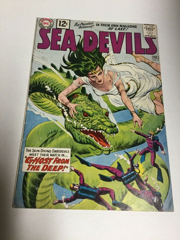 Sea Devils 3 Vg/Fn Very Good / Fine 5.0 DC Comics Silver Age