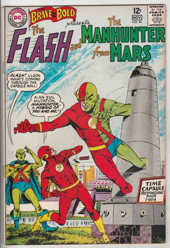Brave and the Bold, The #56 (Nov-64) VF/NM High-Grade The Flash, Martian Manh...