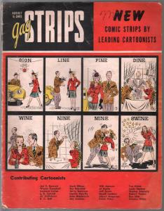 Gag Strips #1 1942-1st issue-WWII era-Mr Prosecutor-Hobo Joe-undocumented-VG
