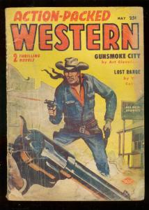 ACTION-PACKED WESTERN PULP MAY 1957-JESSE JAMES STORY-fair/good FR/G