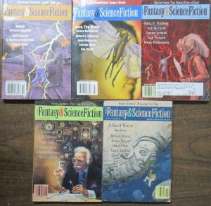 Fantasy & Science Fiction Magazine Lot 5 Diff 1990-2005 Modern Tales!