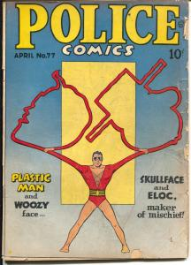 Police #77 1948-Quality-Plastic man-Spirit-Candy-Manhunter-G-