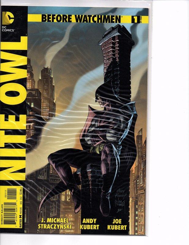 DC Comics Before Watchmen: Nite Owl #1 Joe Kubert, Straczynski