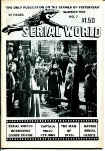 Serial World #7 1976-Capt Marvel-Capt Mephisto-Superman-movie serials-FN