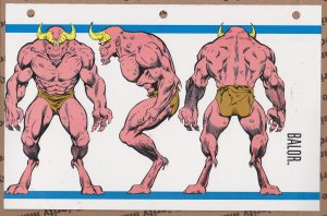 Official Handbook of the Marvel Universe Sheet- Balor