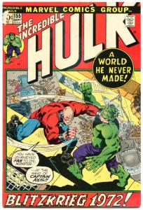 HULK #155, VF, Bruce Banner, Shaper of Worlds, 1968, Incredible, more in store