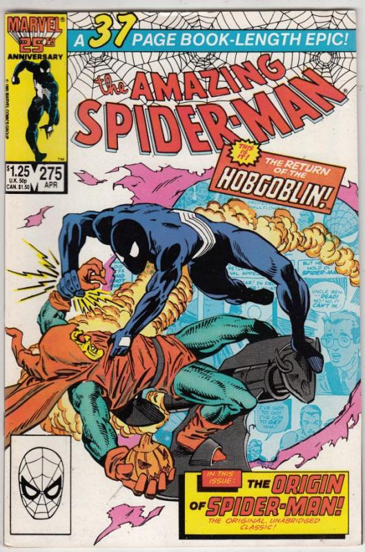 Amazing Spider-Man #275 (Apr-86) VF/NM High-Grade Spider-Man