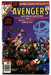 AVENGERS ANNUAL #7-vf/nm THANOS ISSUE-KEY BRONZE AGE MARVEL.
