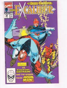 Excalibur #22 VF Marvel Comics Comic Book Iron Man Captain Britain May 1990 DE23