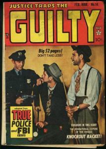 JUSTICE TRAPS THE GUILTY #14-SEVERIN/ELDER ART VG