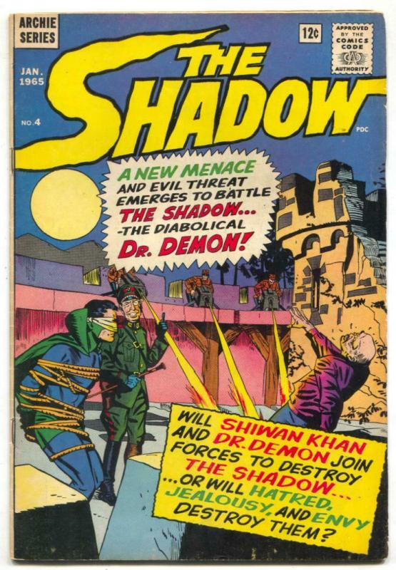 The Shadow #4 1965- Shiwan Khan- Dr Demon- Archie comics VG