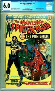 Amazing Spider-Man 129 (CGC 6.0) O/W pgs; 1st app. Punisher and Jackal