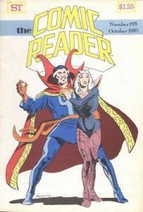 Comic Reader, The #195 VG; Street Enterprises   low grade comic - save on shippi