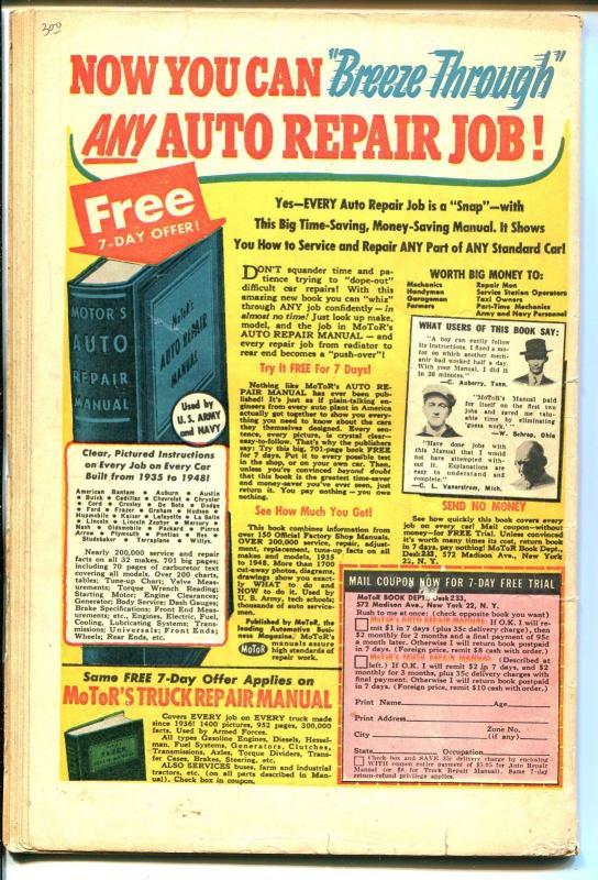 Rangers #46 1949-Fiction House-Firehair-Tiger Man-Davy Crockett-G-