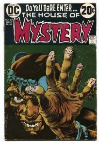 HOUSE OF MYSTERY #214 1973-DC HORROR-WRIGHTSON ART VG
