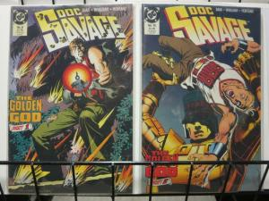 DOC SAVAGE (1988) 9-10  Golden God  complete story