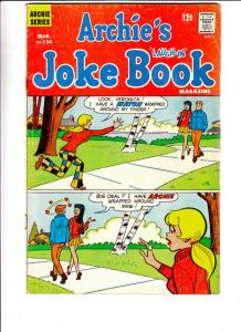 Archie's Joke Book #134 (Mar-69) FN Mid-Grade Archie, Betty, Veronica, Reggie...