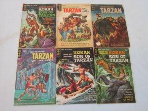 Silver Age Tarzan Comic Lot 6 Different Books