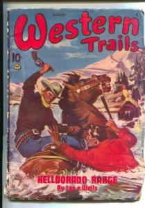 Western Trails 8/1945- Ace-Ernest Chiriacka cover art-Pulp thrills by  Joe Ar...