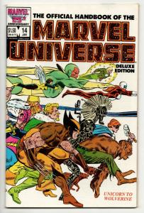 Official Handbook of the Marvel Universe #14 Deluxe Edition (1987) VF+