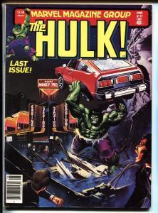 Hulk #27 1981-Comic Magazine-Marvel-Rare LAST ISSUE