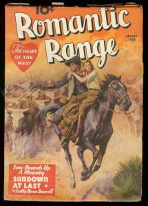 ROMANTIC RANGE AUG 1936-SUNDOWN AT LAST-SALLY BURRELL- FN/VF